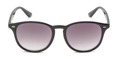 Front of The Zane Reading Sunglasses in Black with Smoke