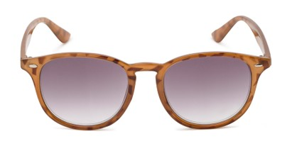 Front of The Zane Reading Sunglasses in Light Brown Tortoise with Smoke