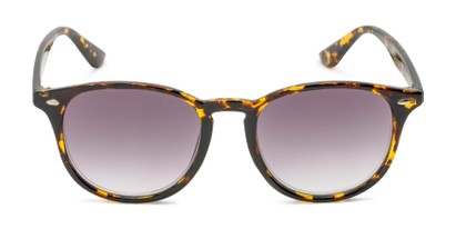 Front of The Zane Reading Sunglasses in Yellow Tortoise with Smoke
