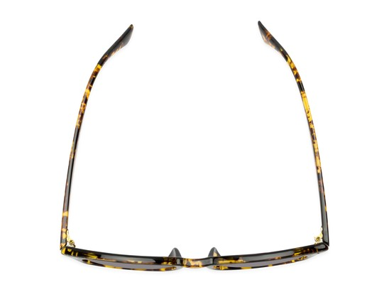 Overhead of The Zane Reading Sunglasses in Yellow Tortoise with Smoke