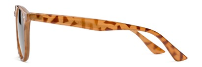Side of The Zane Reading Sunglasses in Light Brown Tortoise with Smoke