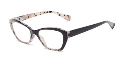 Angle of The Zara in Tortoise/Black, Women's Cat Eye Reading Glasses