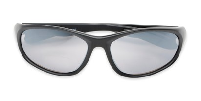 Folded of The Zeek Bifocal Reading Sunglasses in Matte Black with Grey