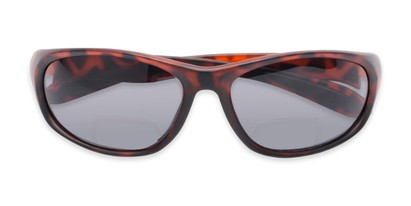 Folded of The Zeek Bifocal Reading Sunglasses in Matte Tortoise with Grey