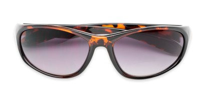 Folded of The Zeek Bifocal Reading Sunglasses in Glossy Tortoise with Smoke
