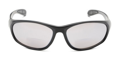 Front of The Zeek Bifocal Reading Sunglasses in Matte Black with Grey
