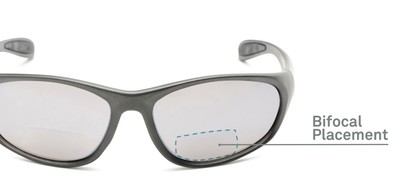 Detail of The Zeek Bifocal Reading Sunglasses in Matte Grey with Grey