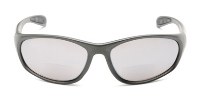 Front of The Zeek Bifocal Reading Sunglasses in Matte Grey with Grey