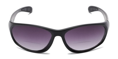 Front of The Zeek Bifocal Reading Sunglasses in Matte Black with Smoke