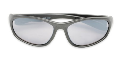 Folded of The Zeek Bifocal Reading Sunglasses in Matte Grey with Grey