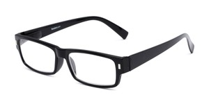 Angle of The Althorpe in Black, Women's and Men's Rectangle Reading Glasses
