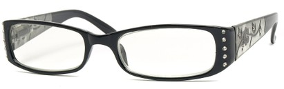 Angle of The Yolanda in Black Frame, Women's and Men's
