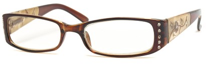 Angle of The Yolanda in Brown Frame, Women's and Men's