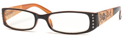Angle of The Yolanda in Orange Frame, Women's and Men's
