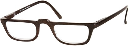 Angle of The Milton in Brown, Women's and Men's Rectangle Reading Glasses