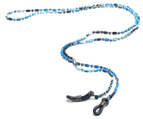 Angle of Detroit Reading Glasses Chain in Blue, Women's and Men's