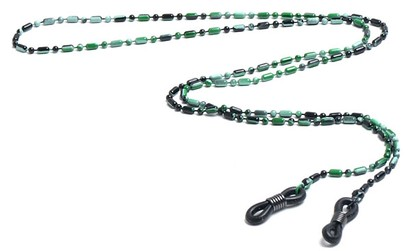 Angle of Detroit Reading Glasses Chain in Green, Women's and Men's