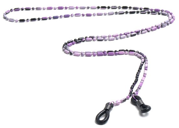 Angle of Detroit Reading Glasses Chain in Purple, Women's and Men's