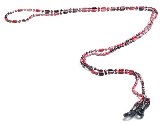 Angle of Detroit Reading Glasses Chain in Red, Women's and Men's