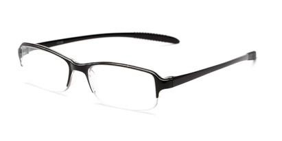 Angle of The Joel in Black, Women's and Men's Rectangle Reading Glasses