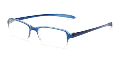 Angle of The Joel in Blue, Women's and Men's Rectangle Reading Glasses
