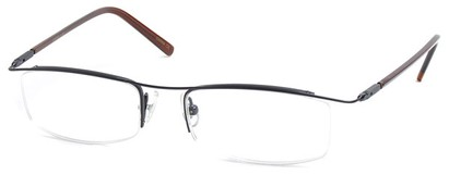 Angle of The Johnson in Black Frame with Clear, Women's and Men's