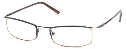 Angle of The Johnson in Black Frame with Gold, Women's and Men's
