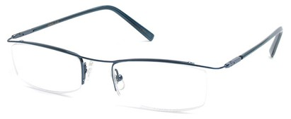Angle of The Johnson in Dark Blue Frame with Clear, Women's and Men's