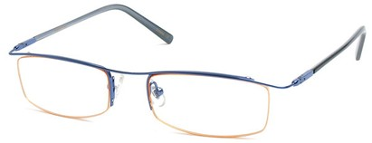 Angle of The Johnson in Blue Frame with Orange, Women's and Men's