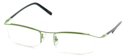 Angle of The Johnson in Green Frame with Clear, Women's and Men's