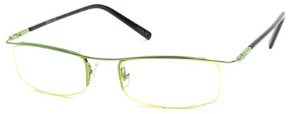 Angle of The Johnson in Green Frame with Yellow, Women's and Men's