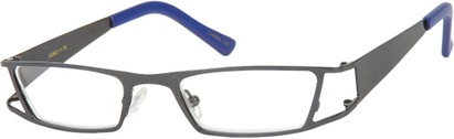 Angle of The Wellington in Grey, Women's and Men's Rectangle Reading Glasses