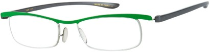 Angle of The Expert in Green/Grey, Women's and Men's Rectangle Reading Glasses