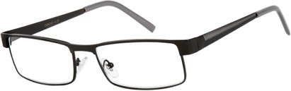 Angle of The Grabill in Matte Black/Grey, Men's Rectangle Reading Glasses