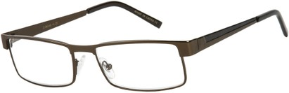 Angle of The Grabill in Bronze/Black, Men's Rectangle Reading Glasses