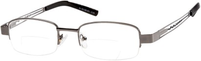 Angle of The Pennsylvania Bifocal in Grey/Black, Women's and Men's