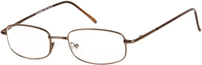 Angle of The Springfield Bifocal in Bronze, Women's and Men's Rectangle Reading Glasses