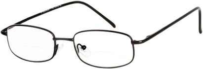 Angle of The Springfield Bifocal in Black, Women's and Men's Rectangle Reading Glasses