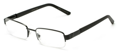 Angle of The Lombard in Black/Black, Women's and Men's Rectangle Reading Glasses