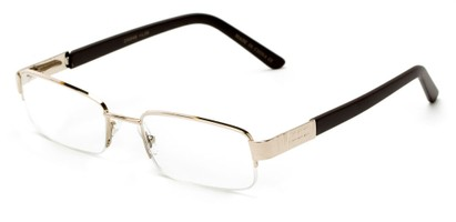 Angle of The Lombard in Gold/Brown, Women's and Men's Rectangle Reading Glasses