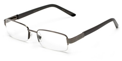 Angle of The Lombard in Grey/Black, Women's and Men's Rectangle Reading Glasses