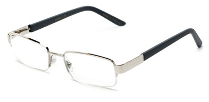 Angle of The Lombard in Silver/Grey, Women's and Men's Rectangle Reading Glasses
