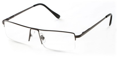 Angle of The Becker in Grey, Men's Rectangle Reading Glasses