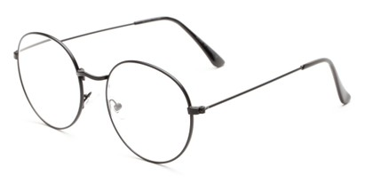 Angle of The Teddy in Black, Women's and Men's Round Reading Glasses