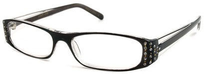 Angle of The Anna in Black and Clear, Women's and Men's