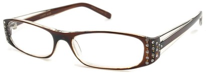 Angle of The Anna in Brown and Clear, Women's and Men's