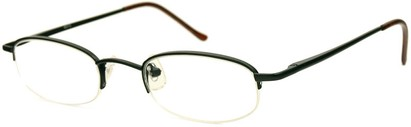 Angle of The Brunswick in Black, Women's and Men's Oval Reading Glasses
