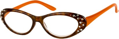 Angle of The Candy in Orange/Brown Tortoise, Women's and Men's