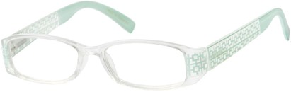 Angle of The Reagan in Clear/Mint Green, Women's and Men's
