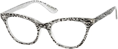Angle of The Tamara in Silver/Black Leopard, Women's and Men's